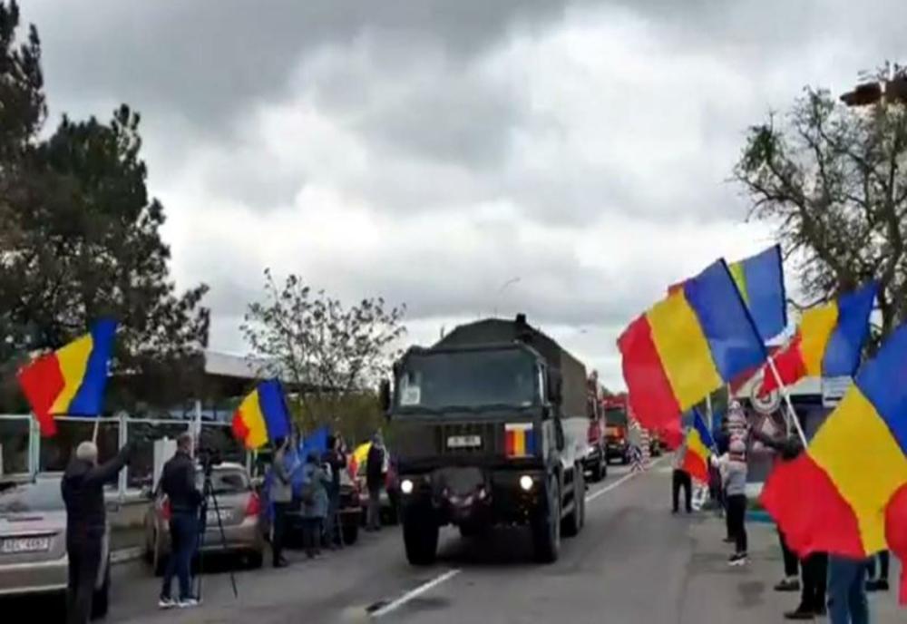 Asistenţă umanitară din România. 13 camioane cu produse sanitare de protecţie ajung azi în Republica Moldova