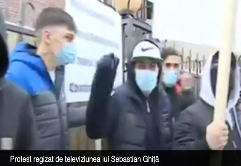 Încercare de intimidare la adresa acționarului majoritar Realitatea PLUS. Dovada VIDEO: cine sunt protestatarii?