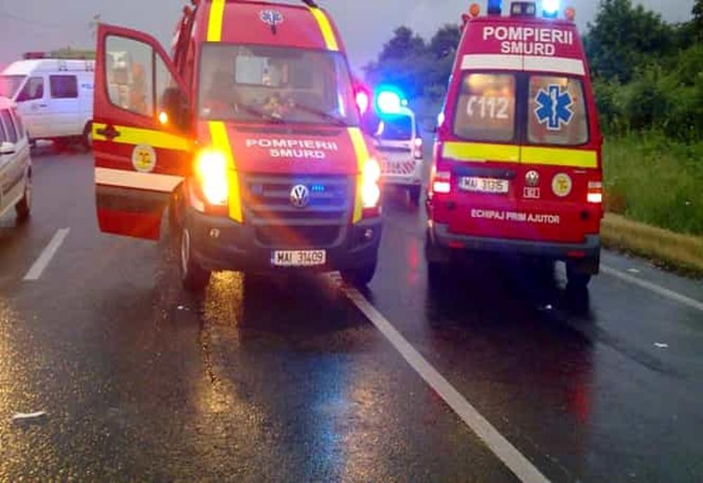 Coliziune între două autotrenuri pe Centura Bucureștiului. Două persoane au fost grav rănite