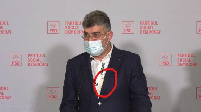 """VIDEO. Ciolacu, banii înapoi! Momentul în care liderul PSD arată """"cash""""-ul, în conferința de presă"""