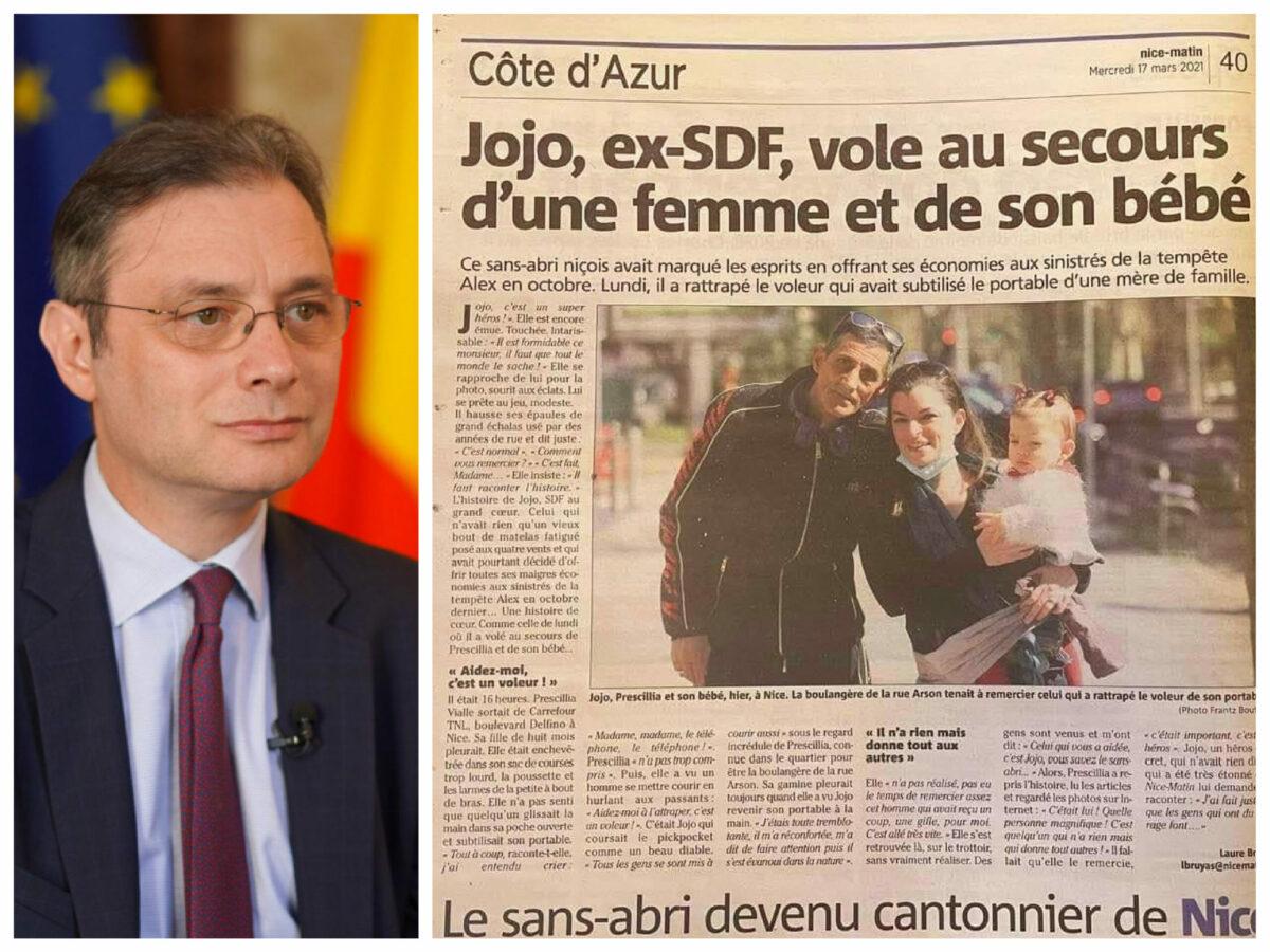 """Ambasadorului României în Franța despre """"Jojo"""", cerșetorul român devenit erou: """"Adesea vorbim de oameni mari…"""""""
