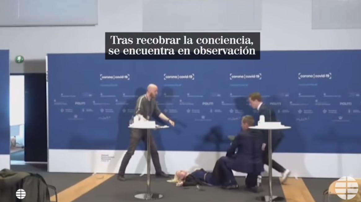 VIDEO. Momentul în care o șefă a Agenției Medicamentului din Danemarca se prăbușește, în direct, la conferința de presă