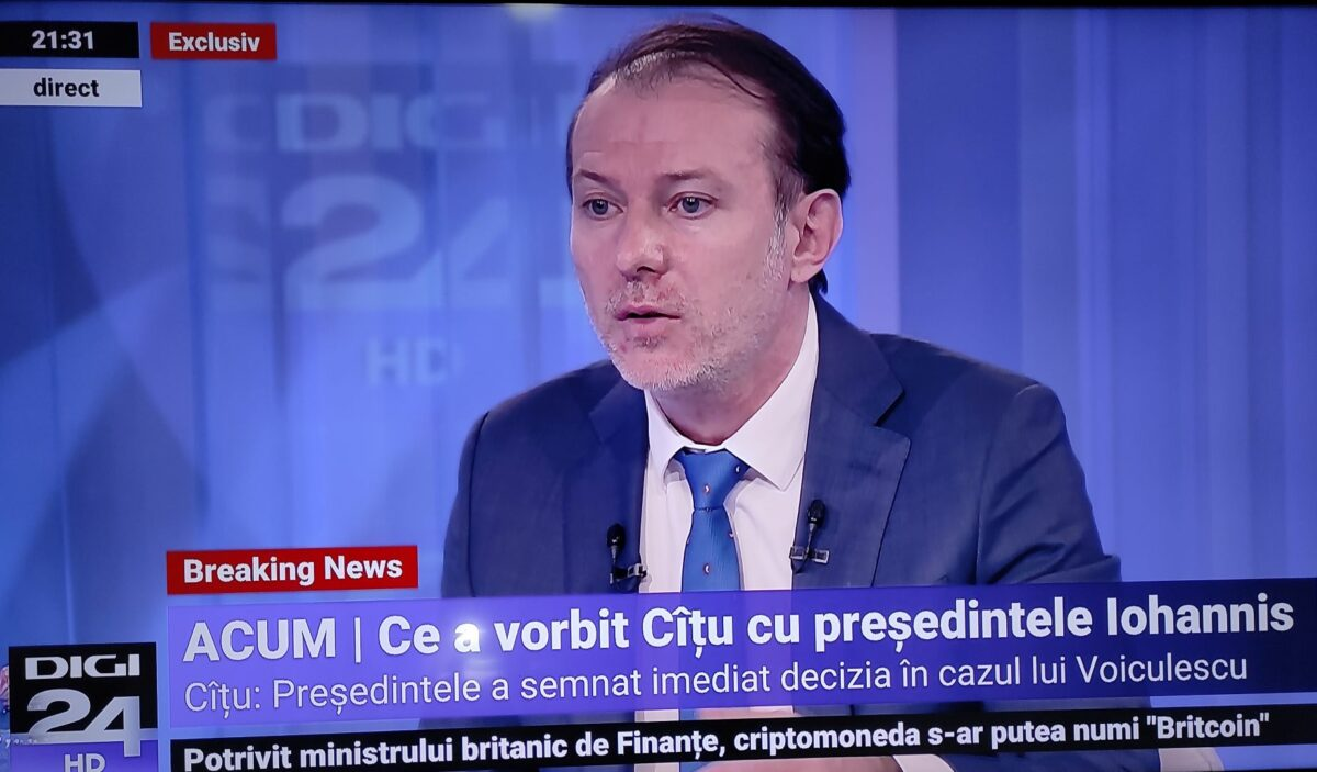 """Florin Cîțu despre relația cu USRPLUS: """"Nu poți să negociezi Constituția"""""""