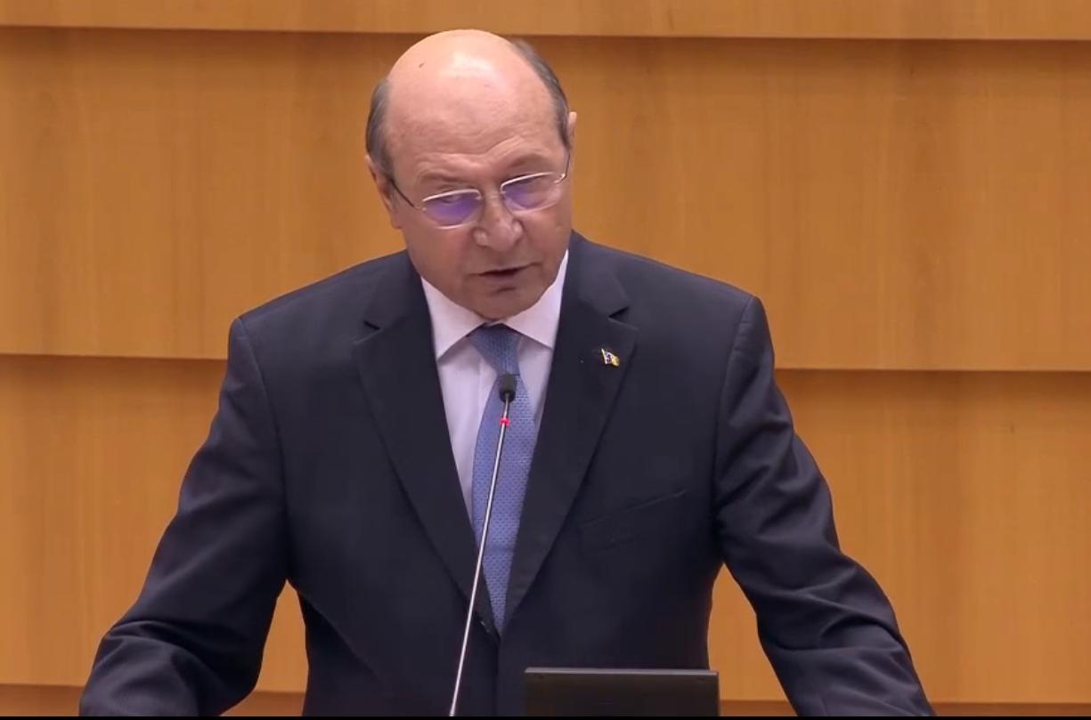 """VIDEO. """"Putin s-a obișnuit să ocupe teritorii. Vremea imperiilor a trecut!"""". Băsescu, intervenție dură la Bruxelles în favoarea Ucrainei"""
