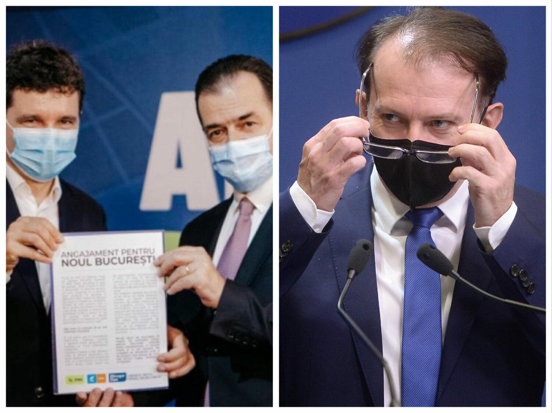 Nicușor Dan, între Cîțu și Orban. Ce joc face primarul Capitalei în bătălia pentru șefia PNL