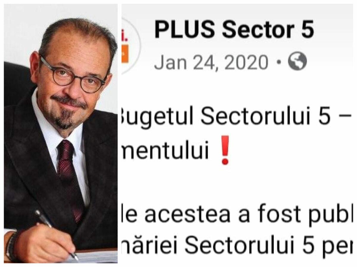 Ce spunea PLUS sector 5 în 2020 când a respins bugetul votat acum de bun, pentru Piedone