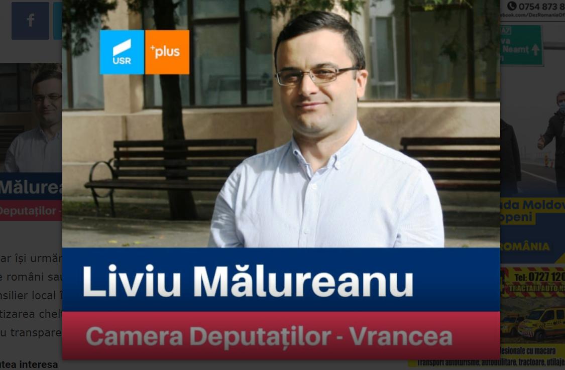 EXCLUSIV-video. Hoție la USR Vrancea? Liviu Mălureanu, șeful Agenției Funcționarilor Publici, prins cu sacoșa de voturi