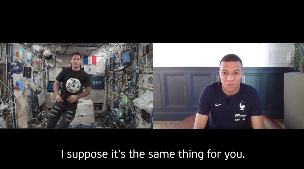 """VIDEO. Interviul """"galactic"""" dintre Mbappé și un astronaut aflat pe Stația Spațială Internațională"""