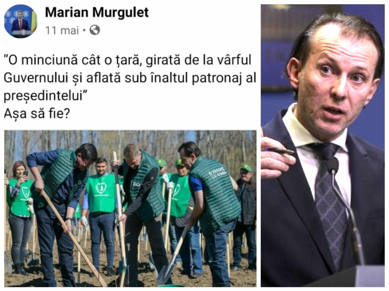 """Cum l-a """"executat"""" Cîțu pe Murguleț, ministrul care îl """"înjura"""" pe Iohannis că plantează copaci de PR"""