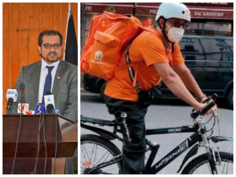 """Fost ministru al Comunicațiilor vinde acum pizza de pe bicicletă. """"Nu am de ce să mă simt vinovat"""""""