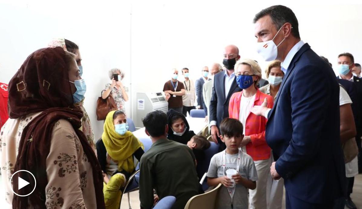 """""""Spania – un model de suflet european"""". Ursula von der Leyen laudă Madridul pentru primirea refugiaților afgani"""