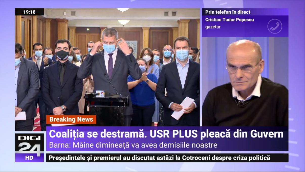 """CTP despre aplauzele la demisia miniștrilor USRPLUS: """"Ce-aplaudați, mă? S-au discreditat total"""""""