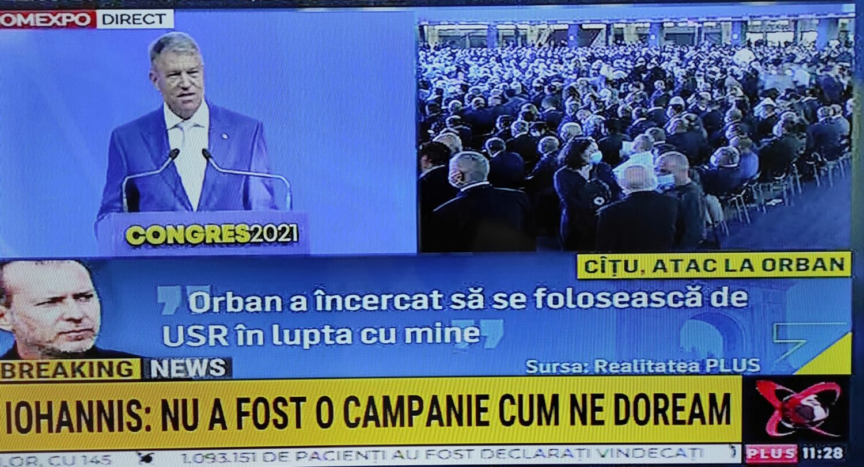 """Iohannis, dur la congresul PNL: """"Nu există niciun motiv ca premierul să fie demis. S-au spus lucruri grave"""""""