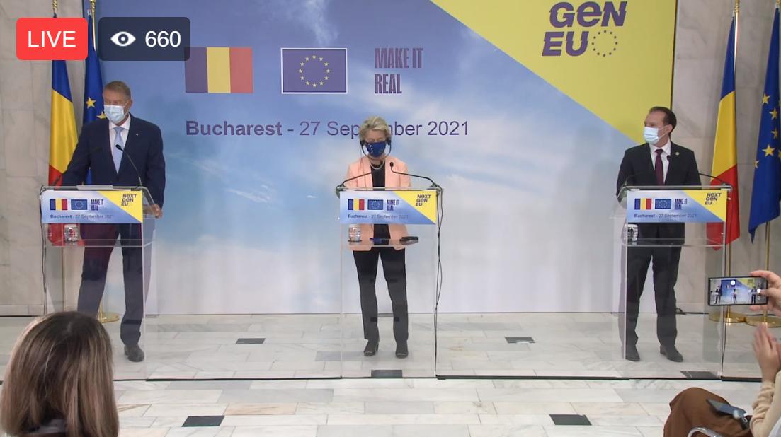 VIDEO. Avem PNRR, să vină banii Europei! Ursula von der Leyen ne-a adus acasă vestea cea mare